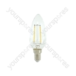 Candle Filament Lamp 2W LED E27 WW