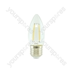 LED Candle Filament Lamp - 2W LED - E27 WW