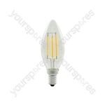 Candle Filament Lamp 4W LED B22 WW