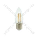LED Candle Filament Lamp - 4W LED - E27 WW
