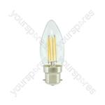 LED Candle Filament Lamp - 4W LED - B22 WW