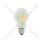 LED GLS Filament Lamp - 4W LED - Standard E27 WW