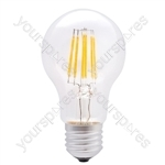 LED GLS Filament Lamp - 6W LED - Standard E27 WW