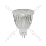MR16 LED Lamp - 4 x 1W Leds (GU5.3) - WW