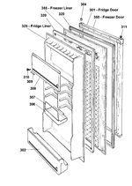 Hello Howard, I have attached an exploded diagram and this listing relates to item 301 which is the fridge door panel.  Item number 320 is the seal which can be found in the link below http://www.yourspares.co.uk/parts/ys148821/indesit-grey-fridgefreezer-door-seal-C00282948.aspx