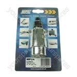 Plug - Aluminium- 12N - 7-Pin