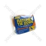 Ratchet Tie Down Strap & Hooks - 4.5m x 38mm