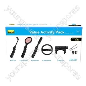 Wii Value Activity Pack-motionplus (blk)