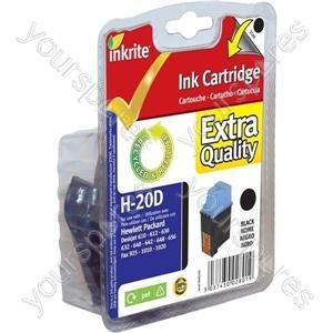 Inkrite NG Ink Cartridges (HP 20) for HP Deskjet 610 630 640 648 656 Fax 1010 - C6614D Black