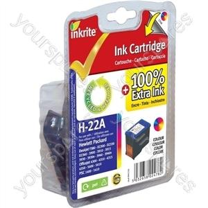 Inkrite NG Ink Cartridges (HP 22) for HP OfficeJet 4310 4350 DeskJet 3920 3940 - C9352A Clr
