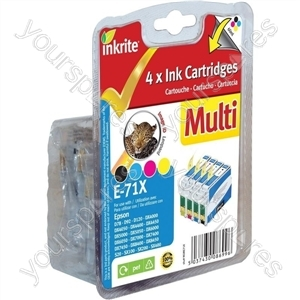 Inkrite NG Printer Ink 4 Col Pack for D78 D92 D120 DX4000 DX5000 DX6000 - T071540 (Leopard)