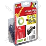 Canon Pixma iP2500 NG Ink Cartridges (PG-40) for ip1200 1300 1600 1700 2200 MP150 170 450 - PG40 Black