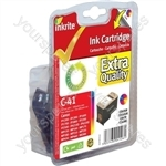 Inkrite NG Ink Cartridges (CL-41) for Canon ip1200 1300 1600 1700 2200 MP150 170 450 - CL41 Clr
