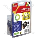 Inkrite NG Ink Cartridges (HP 27) for HP DeskJet 450 3320 PSC 1110 - C8727A Black