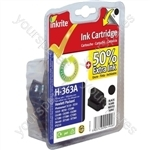 Inkrite NG Ink Cartridges (HP 363) for HP Photosmart 3210/3310/6100/7100/8250 - C8721E Blk