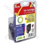 Inkrite NG Ink Cartridges (HP 23) for HP DeskJet 700 810 1120 OfficeJet R40 T45 - C1823D Clr