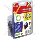 Inkrite NG Ink Cartridges (HP 28) for HP DeskJet 450 3320 5550 Officejet 4105 6110 - C8728A Clr