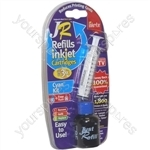 JR Inkjet Printer Ink Cartridge Refill Kit | Cyan | 30ml