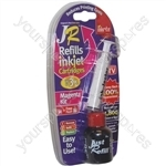 JR Inkjet Printer Ink Cartridge Refill Kit   Magenta   30ml
