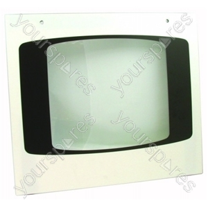 Door Glass M/oven White