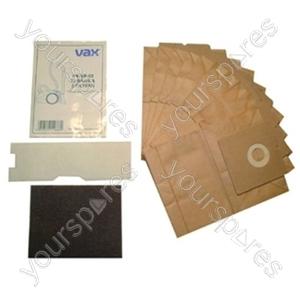 Vax Paper Bag & Filter Kit (Pack of 10)