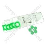 SEBO X & C series Vacuum Cleaner Microfibre Dust Bags (x 10) with Plastic Collar