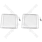 2 X Universal Extendable Oven Cooker Grill Shelves Rack Grids