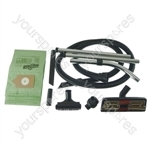 Numatic HVC200 Vacuum Cleaner 2.5m Hose and Tool Kit with 10 x Paper Dust Bags