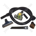 Numatic 1.8 Metre Vacuum Cleaner Hose and 4 Piece Tool Kit Plus Mini Pet Hair Remover Turbo Brush