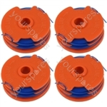 Spool & Line For Qualcast Strimmers 1.5 mm x 2 mm x 5 metre Pack of 4