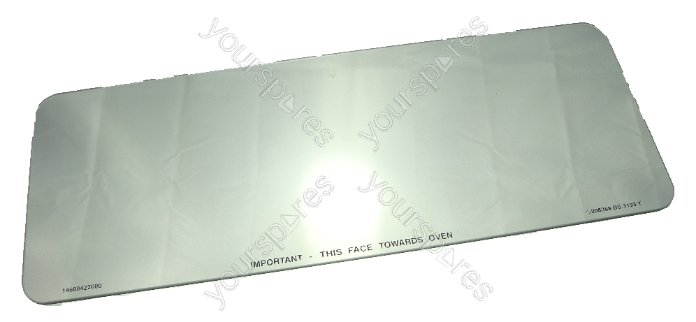 Hotpoint Top Oven Door Inner Glass Spares C00230380 By Indesit