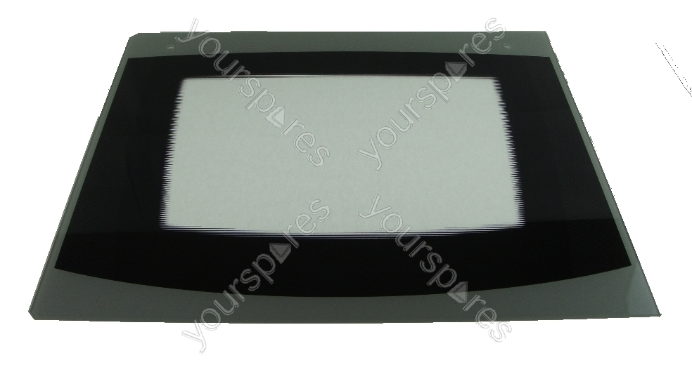 Cannon 10538g Mk4 Outer Oven Door Glass With Silverblack Trim