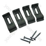 Electrolux Hob Fixing Kit - 4 Brackets + 4 Screws