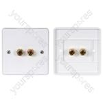 Speaker wallplate, 2 x 4mmØ gold binding posts