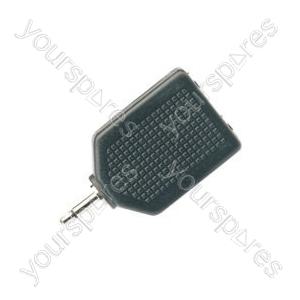 Adaptor 3.5mm mono plug to 2 x 6.3mm mono socket