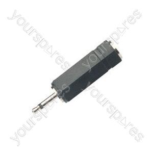 Adaptor 2.5mm mono plug to 3.5mm stereo socket
