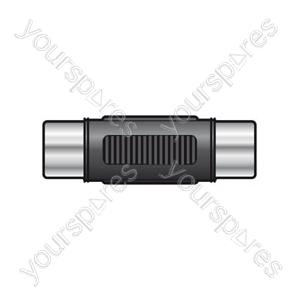 Coupler RCA socket to RCA socket, metal