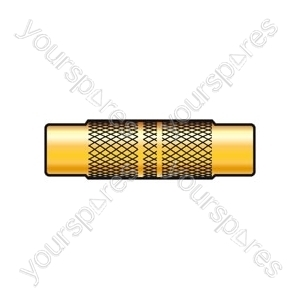 Gold plated coupler RCA socket to RCA socket