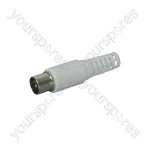 Plastic covered coax plug